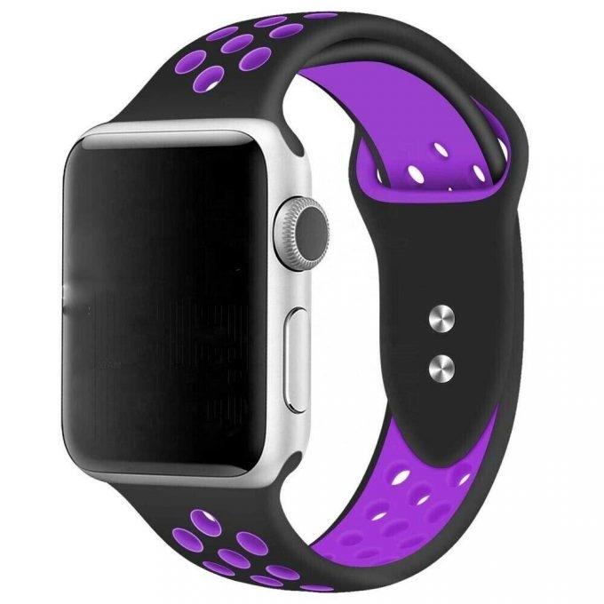 Apple Watch სამაჯური – 38/40 mm (Black/Purple)